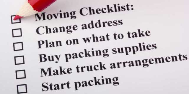 Moving Checklist.