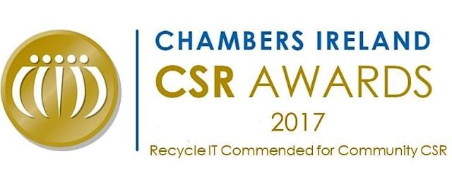Recycle IT Commended for Corporate Social Responsibility (CSR) 2017
