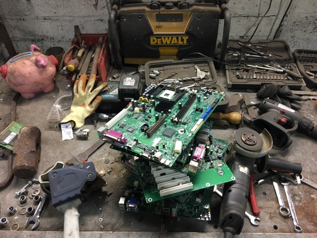 E-Waste System Boards from Computers