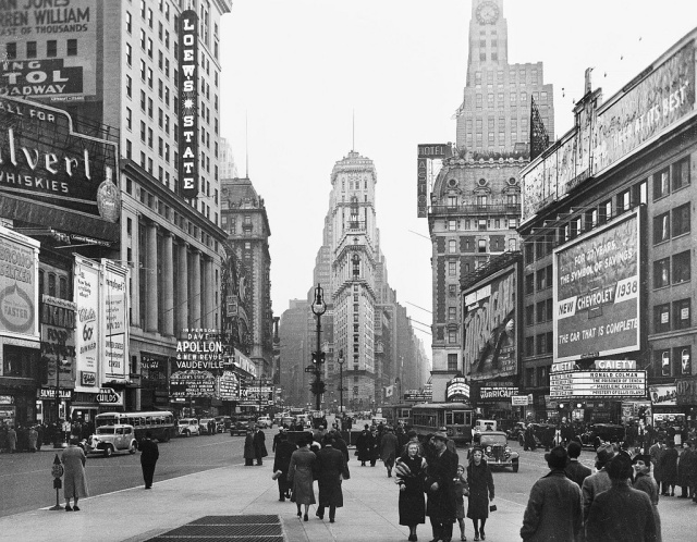 Times Square, New York City, 1938